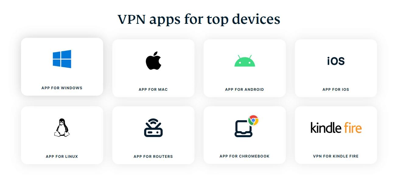 ExpressVPN VPN app options