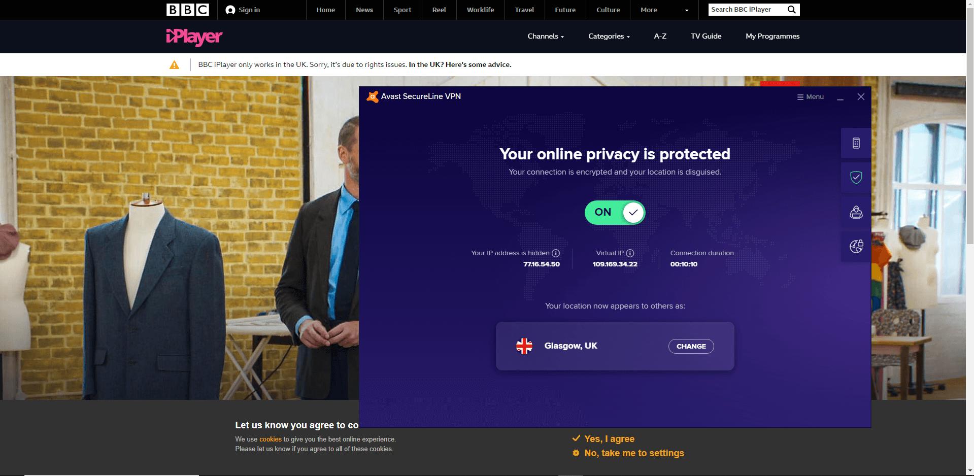 BBC iPlayer access denied